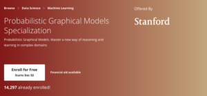 Probabilistic Graphical Models Specialization by Stanford University