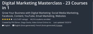 Digital Marketing Masterclass — 23 Courses in 1