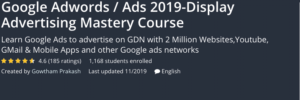 Google Adwords/Ads 2019-Display Advertising Mastery Course