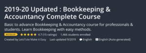 Bookkeeping and Accountancy Complete Course
