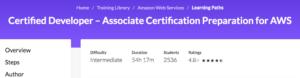 Certified Developer — Associate Certification Preparation for AWS