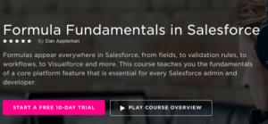 Formula Fundamentals in Salesforce by PluralSight