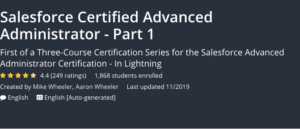 Salesforce Certified Advanced Administrator- Part 1