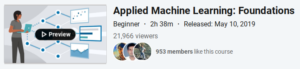 Applied Machine Learning: Foundations