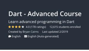 Dart- Advanced Course