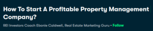 How to Start a Profitable Property Management Company