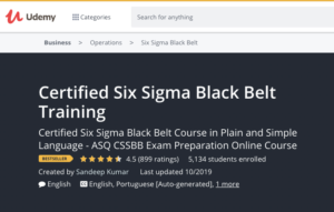 Sigma Black Belt Training