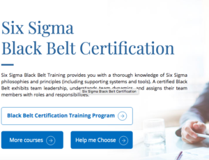 Six Sigma Black Belt Certification Course