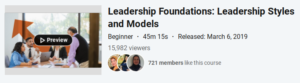Leadership Foundations: Leadership Styles and Models