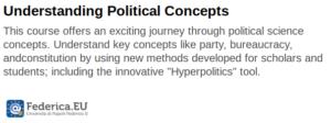 Understanding Political Concepts