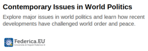 Contemporary Issues in World Politics