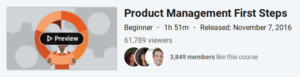 Product Management First Steps