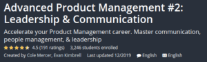 Advanced Product Management #2: Leadership and Communication