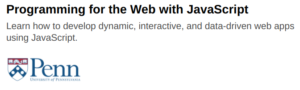 Programming for the Web with JavaScript