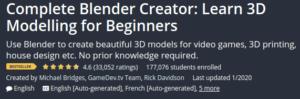 Complete Blender Creator: Learn 3D Modeling for Beginners