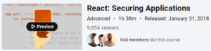 React: Securing Applications