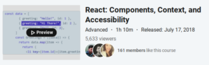 React: Components, Context and Accessibility