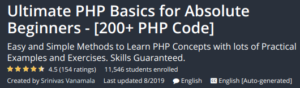 Ultimate PHP Basics for Absolute Beginners