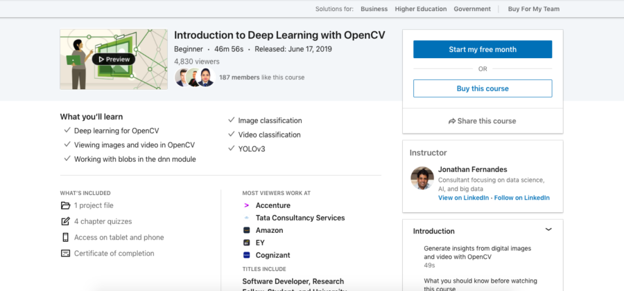 Introduction to Deep Learning with OpenCV