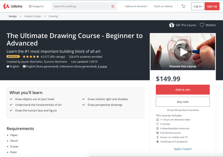 e Ultimate Drawing Course — Beginner to Advanced