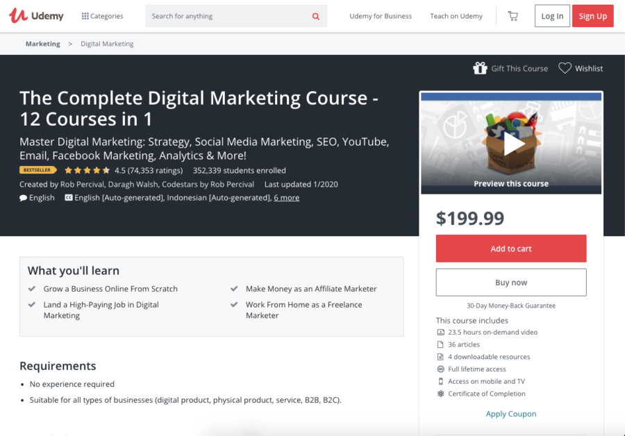 The Complete Digital Marketing Course — 12 Courses in 1