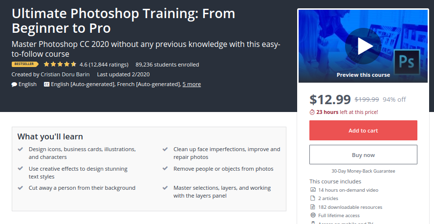 Ultimate Photoshop Training: From Beginner to Pro