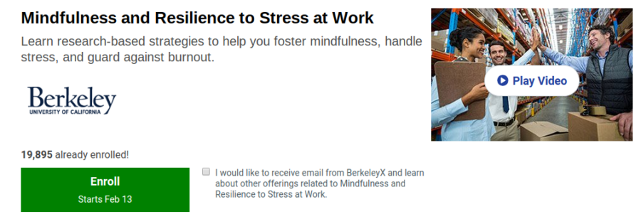 Mindfulness and Resilience to Stress at Work