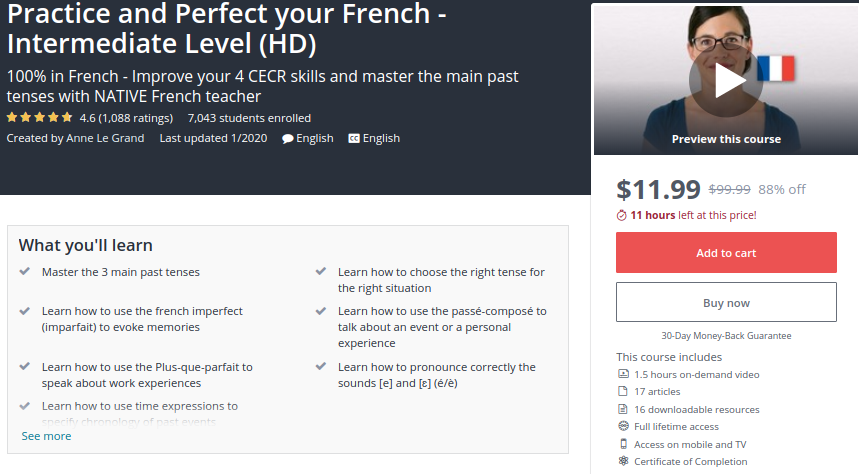 Practice and Perfect your French — Intermediate Level