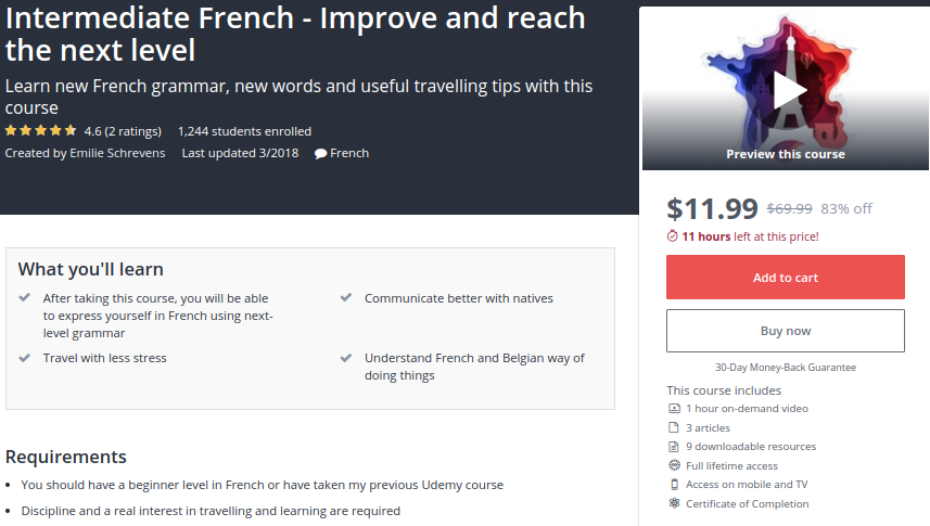 Intermediate French — Improve and Reach the Next Level