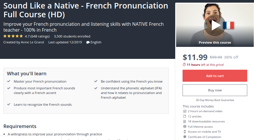 Sound Like a Native — French Pronunciation Full Course (HD)