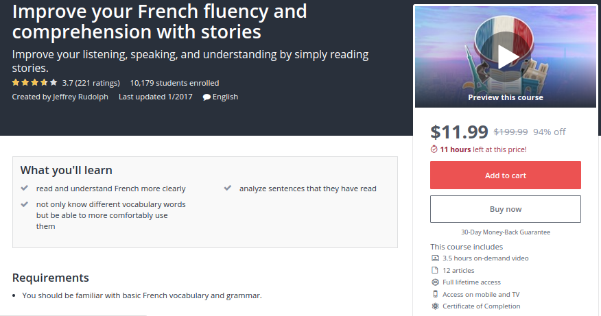 Improve your French Fluency and Comprehension with Stories