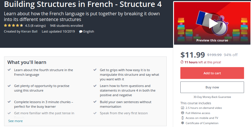 Building Structures in French — Structure 4