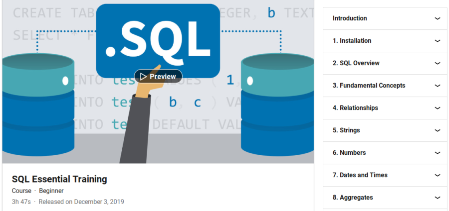 SQL Essential Training
