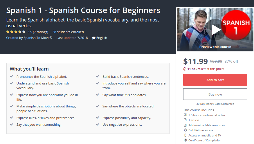 Spanish 1 — Spanish Course for Beginners