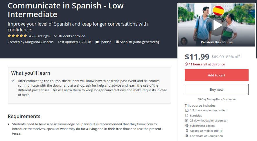 Communicate in Spanish — Low Intermediate