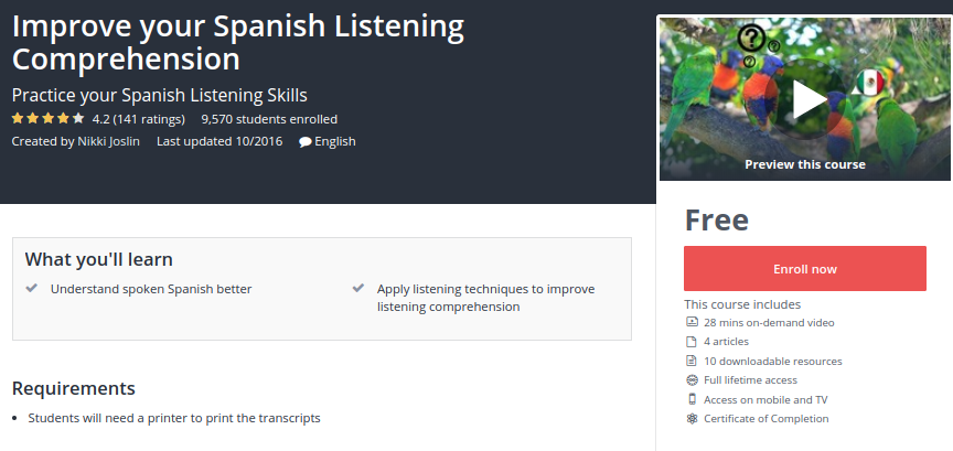 Improve Your Spanish Listening Comprehension