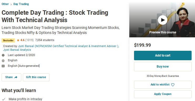 Complete Day Trading: Stock Trading with Technical Analysis
