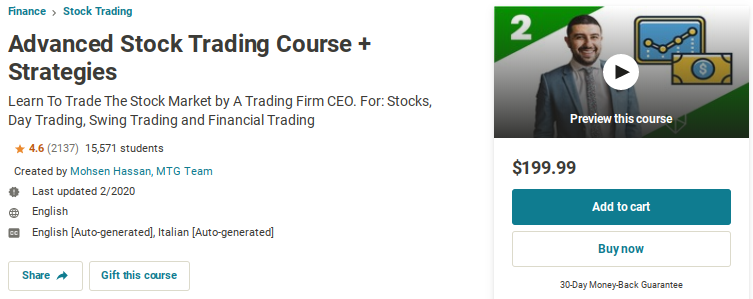 Advanced Stock Trading Course and Strategies
