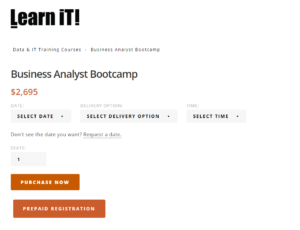 Business Analyst Bootcamp