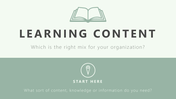 Learning Content Mix Infographic cover