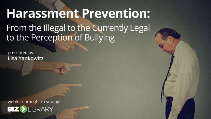 harassment prevention webinar cover