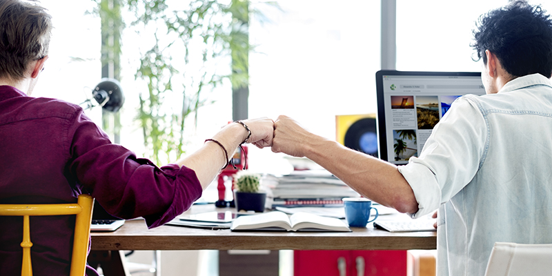 building work relationships colleagues image