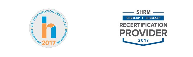HRCI, SHRM Approved Provider logos