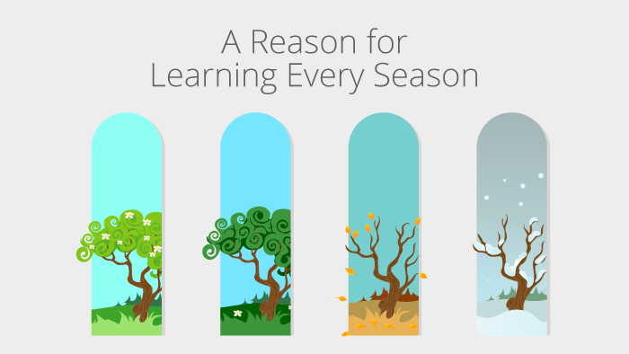 A Reason for Learning Every Season