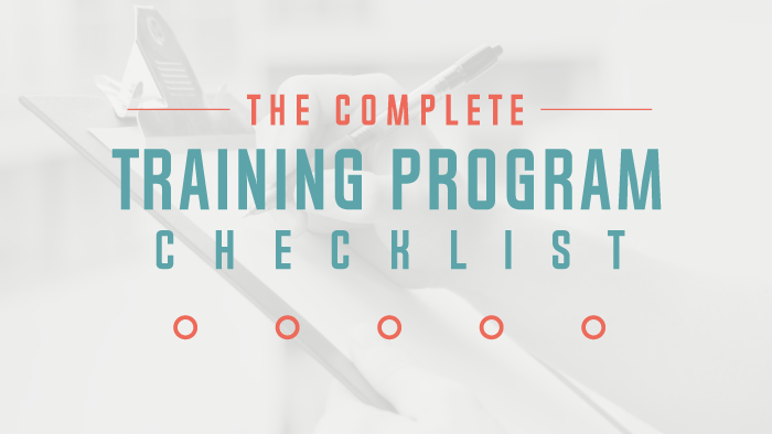 The Complete Training Program Checklist