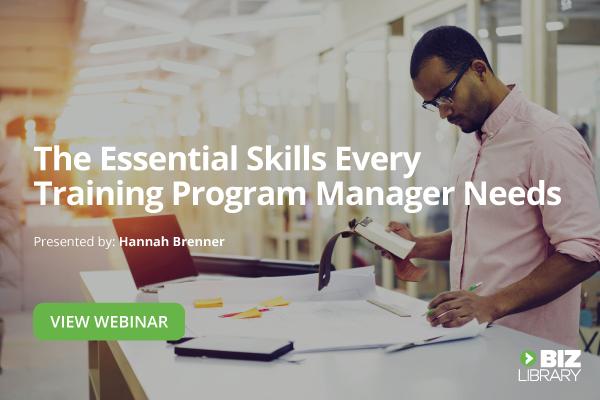 employee training program manager skills webinar