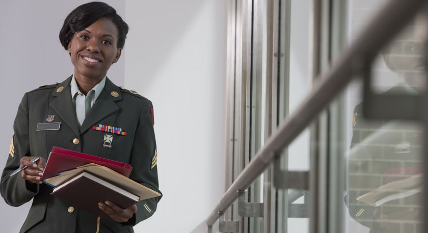 Female-Military-Officer-Files-Business-Development-Manager-Leadership