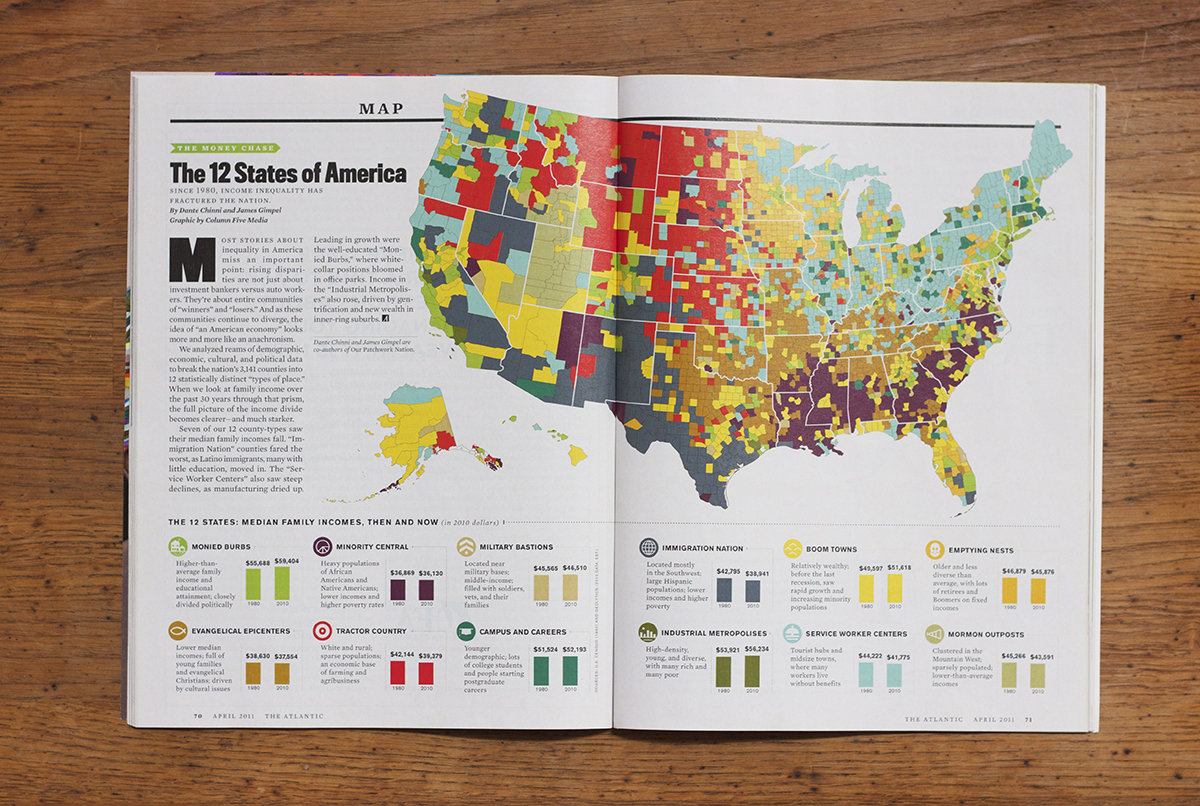 Infographic: The 12 States of America