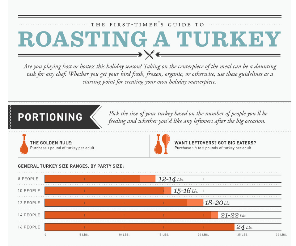 Infographic: A Visual Guide to Roasting Your First Turkey