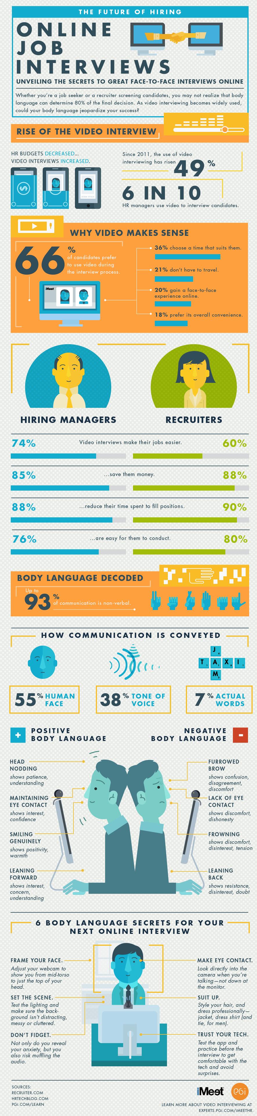 Infographic: Online Job Interviews